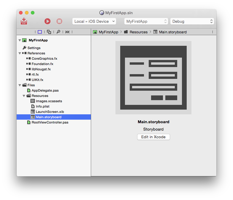 xcode button click