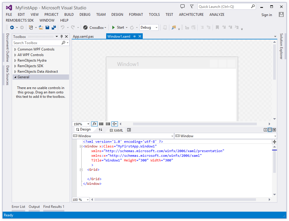 Your First Windows WPF App with Elements